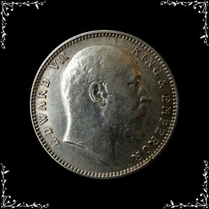 1907 1 One Rupee Edward VII King Emperor