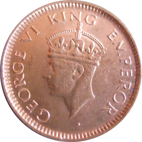 1939 1/12 One Twelve Anna George VI King Emperor Bombay Mint - Best Buy