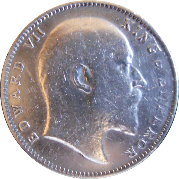 1903 1 Rupee Silver Coin King Edward VII Emperor Calcutta Mint