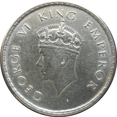1938 1/2 Half Rupee Silver Coin King George VI Bombay Mint - Worth Buy - RARE