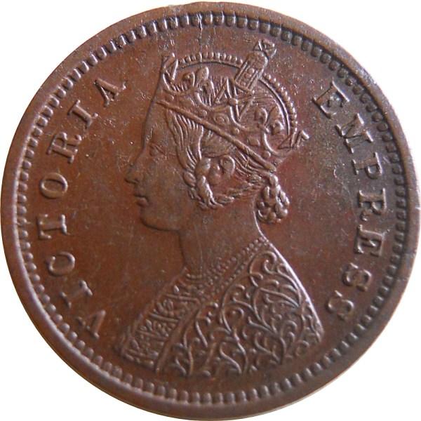 1884 1/12 One Twelve Anna Queen Victoria Empress Bombay Mint - Worth Buy - RARE COIN