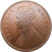 1880 1/4 One Quarter Anna British India Queen Victoria Empress Calcutta Mint - Best Buy