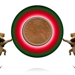 1888 1/12 One Twelve Anna British India Queen Victoria Empress - RARE COIN