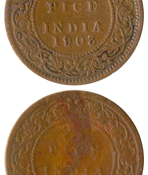 1903 1905 1/2 Half Pice King Edward VII Calcutta Mint - Best Buy
