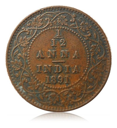 1891 1/4 Quarter Anna Queen Victoria Empress Calcutta Mint - Best Buy