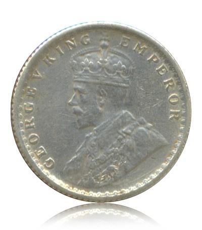 1917 Quarter Rupee George V King Emperor Calcutta Mint - Best Buy