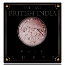 1947 British India King George VI 1/2 Half Rupee Coin Bombay Mint - Best Buy