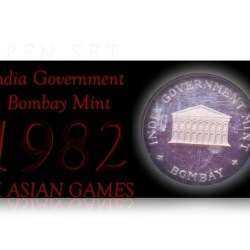 India Government Bombay Mint Proof Set 1982 IX Asian Games - Rare