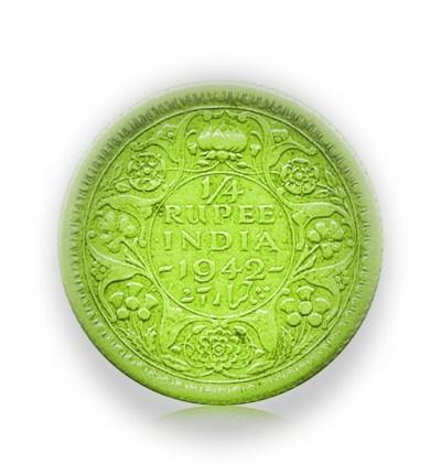 1942 1/4 Quarter Rupee King George VI Calcutta Mint - Best Buy