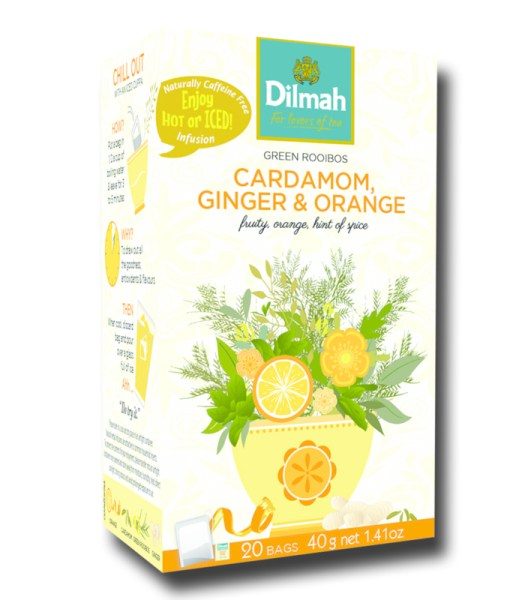 Dilmah Green Rooibos Cardamom Ginger Orange