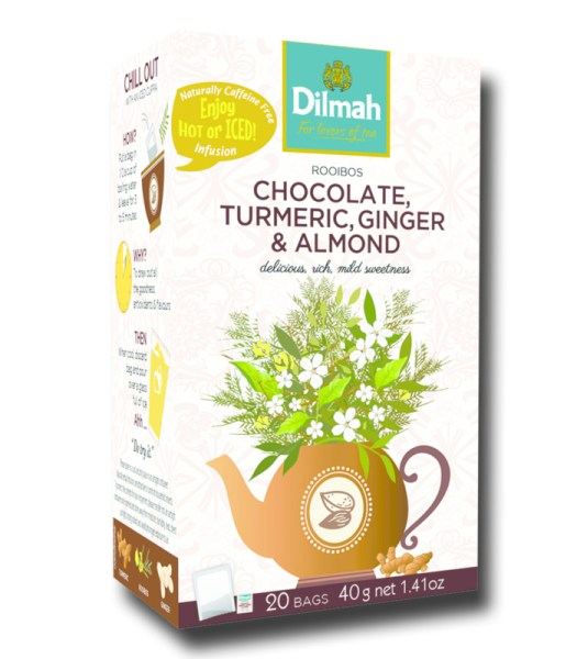 Dilmah Red Rooibos with Chocolate Turmeric Ginger Almond