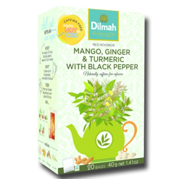 Dilmah Red Rooibos with Mango Ginger Turmeric Black Pepper