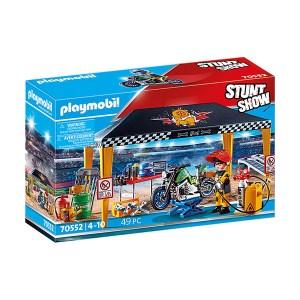 Playmobil Stunt Show: Σκηνή- Συνεργείο για Οχήματα (εως 36 δόσεις)