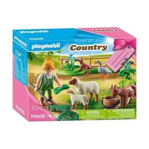 Playmobil Country: Farmer with Animals Gift Set (εως 36 δόσεις)