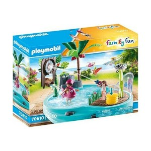 Playmobil Family Fun: Small Pool with Water Sprayer (εως 36 δόσεις)
