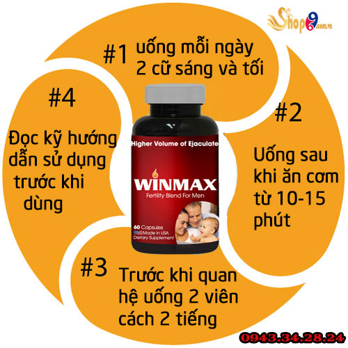 cachs ử dụng winmax for men