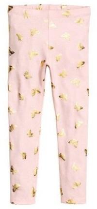 H&M roze legging met gouden vlinders