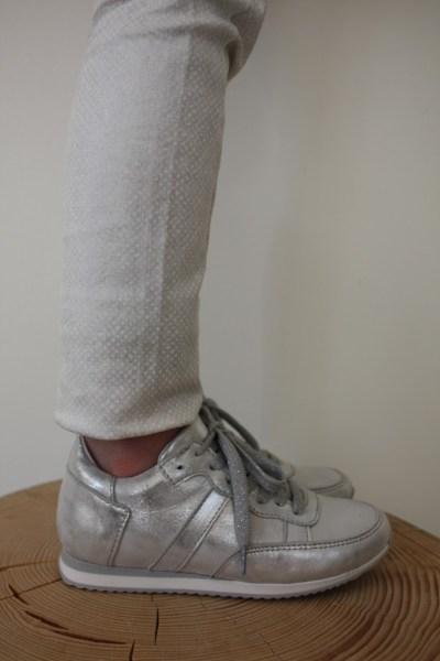 Gattino zilveren sneakers