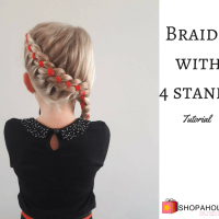 Vlechten met lint: Braids with 4 stands