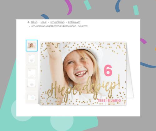 Verjaardagsfeest uitnodiging