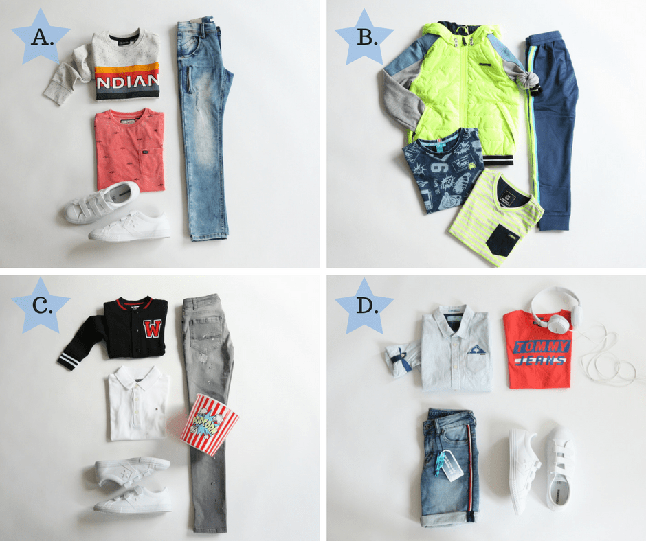 Mix and match for boys