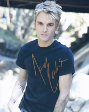 Aaron Carter in-person autographed photo