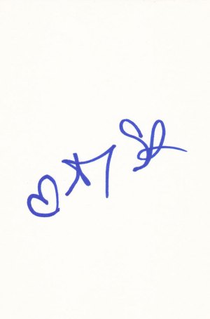 Amy Smart Autographed Index Card