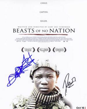 Beasts of No Nation In-person autographed Cast Photo