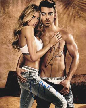 Charlotte McKinney and Joe Jonas In-person autographed Photo