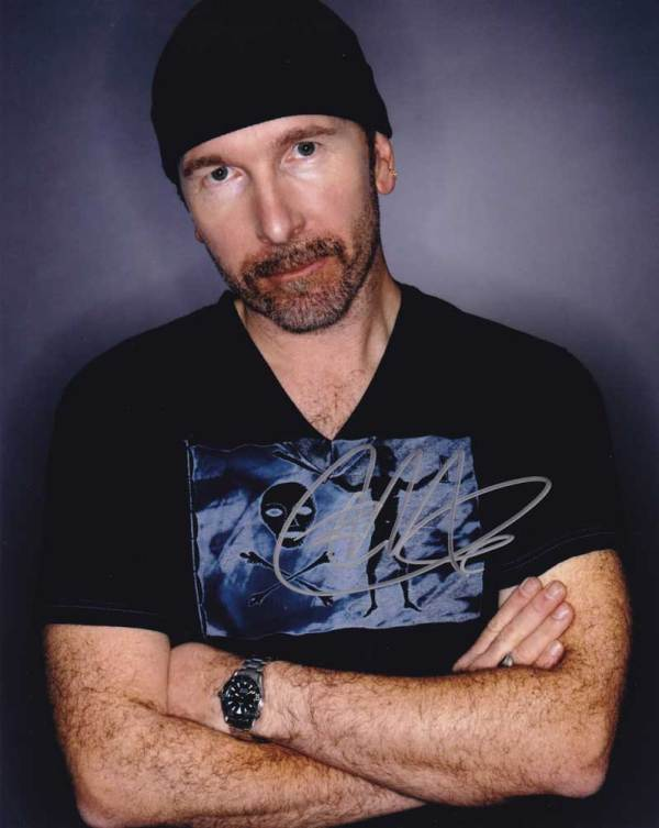 The Edge in-person autographed photo U2