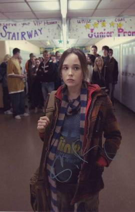 Ellen Page in-person autographed photo
