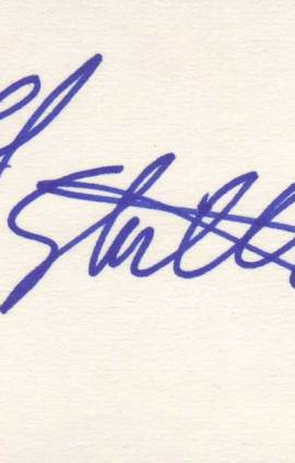 Frank Stallone autographed 3 x 5 index card