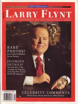 Larry Flynt in-person autographed Magazine