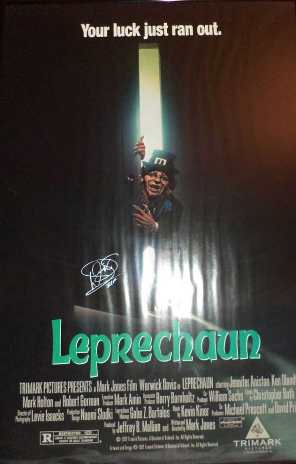 Leprechaun in-person Autographed Poster