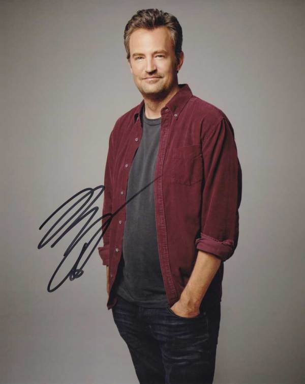 Matthew Perry in-person autographed photo