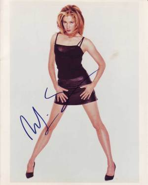 Mira Sorvino in-person autographed photo