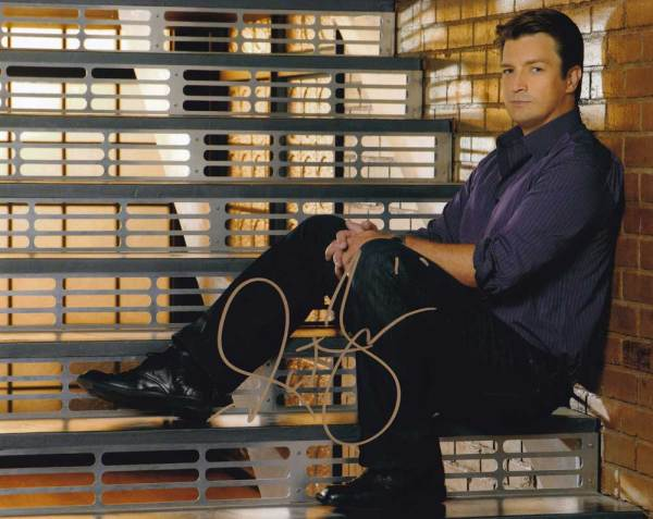 Nathan Fillion in-person autographed photo