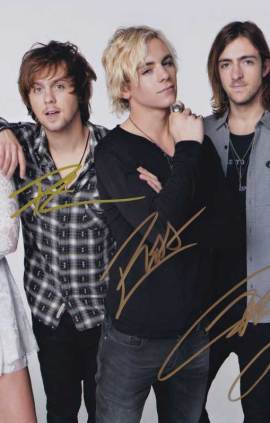 R5 In-person Autographed Group Signed Band Photo