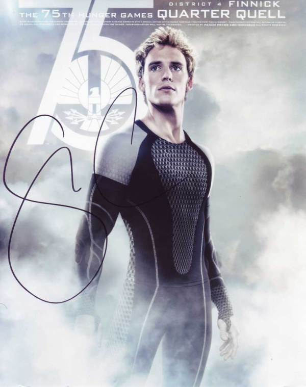 Sam Claflin in-person autographed photo Hunger Games