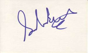 Sandra Bernhard Autographed 3x5 Index Card