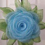 Blue Rose Deco Mesh Wreath Whimsical Holiday Wreaths For All Occasions