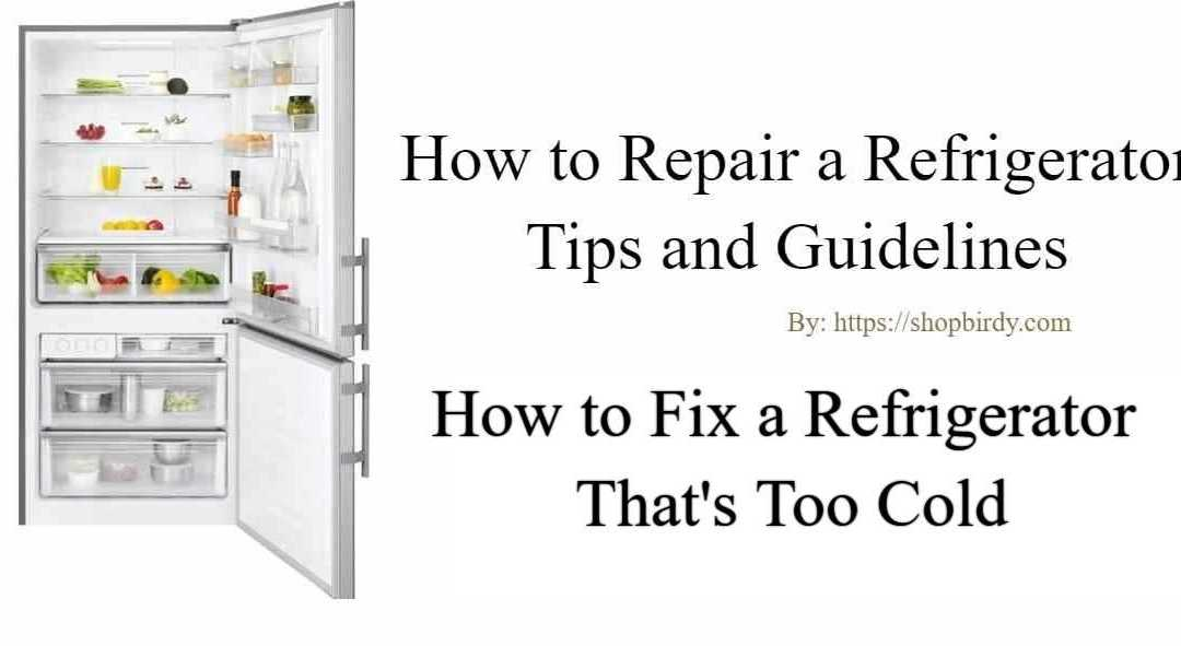 Refrigerator is Freezing Food| How to Fix a Refrigerator That's Too Cold
