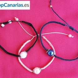 Pulsera de Macramé de la marca Shopcanarias.es Simple con Perla