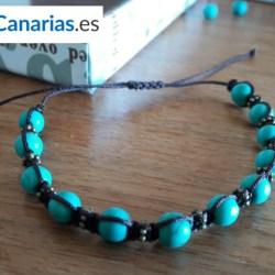 Pulsera Macramé Shopcanarias.es Azul Turquesa