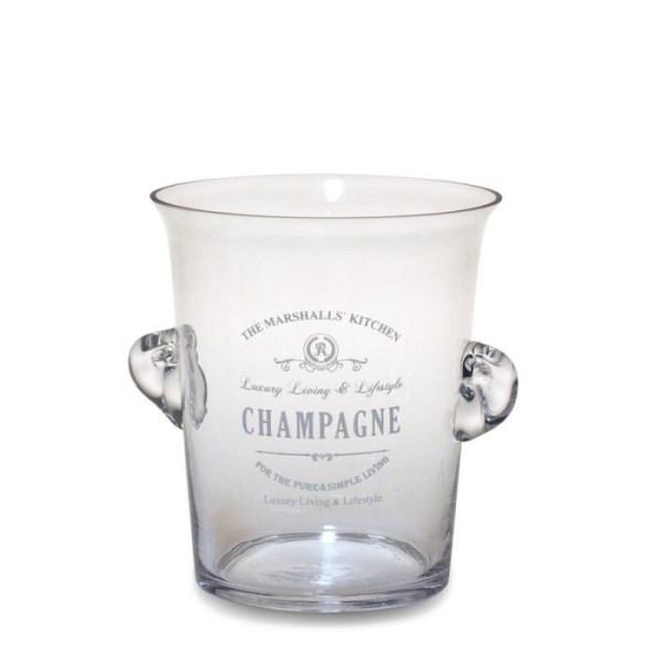 Champagnekylare i glas