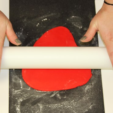 rolliing out fondant