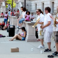 Jack Brass Band at Central Library 111291w