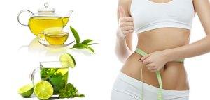 giảm cân hiệu quả bằng chanh với trà xanh