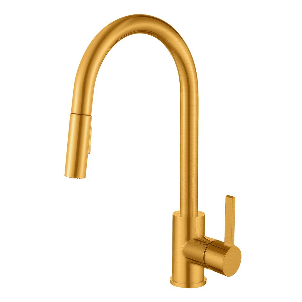 pearl santino champagne gold kitchen faucet