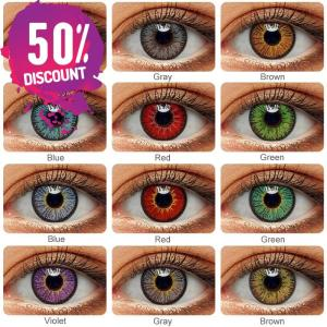 Neon Radiance Eye Contact Lenses For Halloween Cosplay Colored Anime Look Eye Contact Lenses FREE SHIPPING